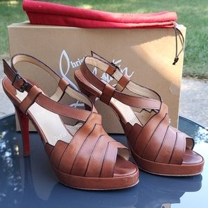 Authentic Christian Louboutin city girl pumps